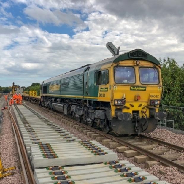 Freightliner Aberdeen to Inverness blockade team