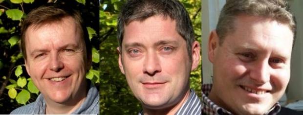 Steve Tollerton, Jason Alexandre and Rob Christopher